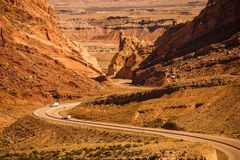 Wüsten-Utah-Landstraße Lizenzfreie Stockbilder