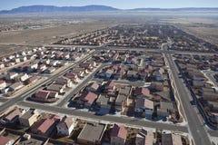 Wüsten-Vorstadtunterteilung-Antenne Lizenzfreie Stockbilder