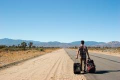 Wüsten-Weg Stockbild