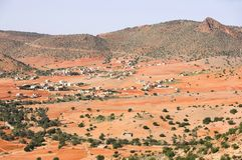 Wüstenackerland - Marokko Lizenzfreies Stockbild