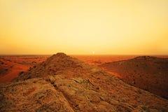 Wüstendünen in Dubai Stockfotos