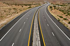 Wüstendatenbahn Stockfoto
