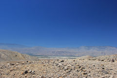 Wüstengebiet nahe tausend Palmen-Oasen-Konserve im Coachella Stockbilder