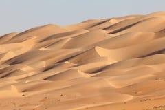 Wüstenlandschaft in Abu Dhabi Stockfoto