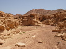 Wüstenlandschaft der Sinai-Halbinsel Stockbild