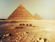 Wüstenlandschaft des Saharas in Ägypten lizenzfreie stockfotografie