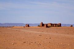 Wüstenlandschaft Sahara in Marokko Lizenzfreies Stockfoto