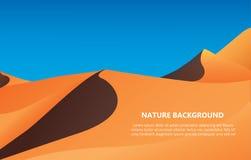 Wüstenlandschaftshintergrund-Vektorillustration Lizenzfreie Stockfotos