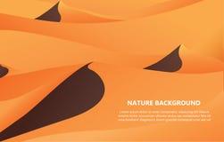 Wüstenlandschaftshintergrund-Vektorillustration Lizenzfreies Stockfoto