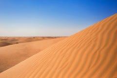 Wüstensandhügel Stockfotografie