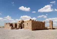 Wüstenschloss Quseir (Qasr) Amra nahe Amman, Jordanien Lizenzfreies Stockfoto