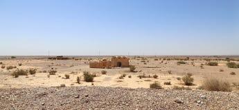 Wüstenschloss Quseir (Qasr) Amra nahe Amman, Jordanien Stockfotos