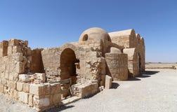 Wüstenschloss Quseir (Qasr) Amra nahe Amman, Jordanien Stockbild