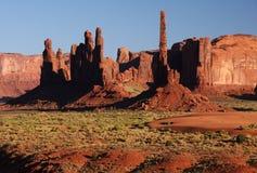 Wüstensonnenuntergang Stockbilder