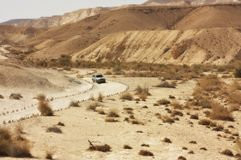Wüstenspur lizenzfreies stockbild