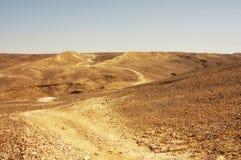 Wüstenspur lizenzfreie stockfotografie