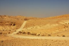 Wüstenspur lizenzfreie stockfotos