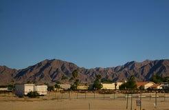 Wüstenstadt Stockfoto