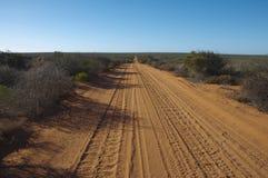 Wüstenstraße, Francois Peron National Park stockfotografie