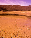 Wüstenszene vom Mavrovo See Stockbilder