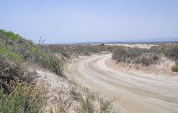 Wüstenweg bei Lady& x27; s-Meile, Limassol Lizenzfreies Stockfoto