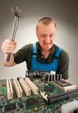 Wütend ES Arbeitskraft stockbilder