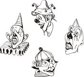 Wütende Clowne Lizenzfreies Stockbild