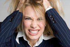 Wütende Geschäftsfrau Stockfoto
