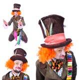 Wütende Hutmacher ` s verschiedene Gesichtsgefühle Nahaufnahmeporträt von SMI Lizenzfreie Stockfotografie