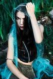 Wütende Meerjungfrau wurde im Netz gefasst Lizenzfreies Stockbild