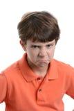 Wütender Ausdruck Stockfoto