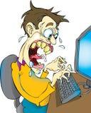 Wütender Blogger Lizenzfreie Stockfotos