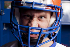 Wütender Fußball-Spieler Stockbild