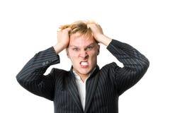 Wütender junger Mann Stockfoto