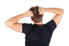 Wütender junger Mann Stockfotografie