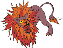 Wütender Löwe Lizenzfreies Stockfoto
