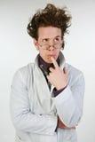 Wütender Wissenschaftler Stockfoto