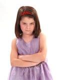 Wütendes kleines Mädchen Lizenzfreie Stockbilder