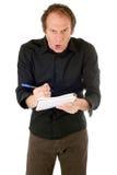 Wütendes Mannschreiben lizenzfreie stockbilder