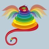 Wąż barwiący wierza. Zdjęcie Royalty Free