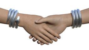Wąż bransoletek uścisk dłoni Obrazy Royalty Free