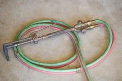 wąż elastyczny acetylenowa pochodnia zdjęcie royalty free