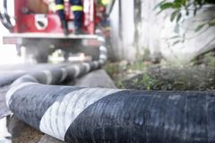 Wąż elastyczny drymba firetruck Obrazy Stock