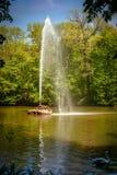 Wąż fontanna Uman, Cherkasy Oblast, Ukraina Sofiyivka jest scenicznym punktem zwrotnym światowy ogrodnictwo projekt zdjęcia stock