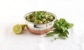Wąż gurdy curry w Stalowym pucharze Zdjęcia Stock
