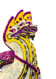 Wąż robić kwiaty Odizolowywał białego tło Fotografia Royalty Free