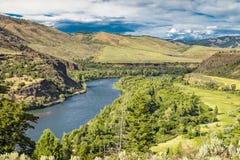 Wąż Rzeczna dolina w Idaho zdjęcia stock