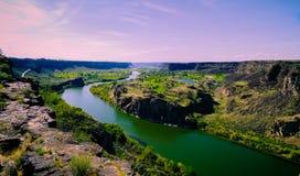 Wąż rzeki panorama fotografia stock