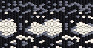 Wąż skóra pattern Czarny i biały skóry skóry tekstura Zwierzęcej skóry wzór Mody tkaniny tło gad ilustracja wektor
