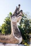 Wąż statua w świątyni Zdjęcia Royalty Free